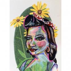 Emily Kearsley - Vintage Greeting Card Painting 1