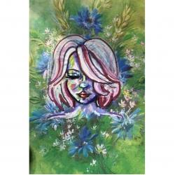 Emily Kearsley - Vintage Greeting Card Painting 2