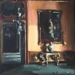 Hanna Ruminski - Palazzo Interior with Gilded Console Table