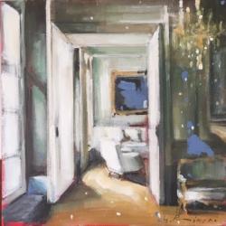 Hanna Ruminski - Parisian Apartment with Modern Art