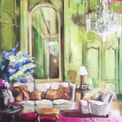 Hanna Ruminski - Parisian Apartment with Delphinium Bouquet