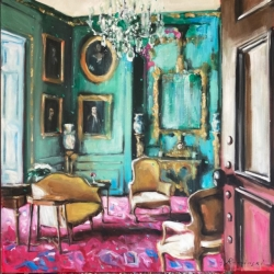 Hanna Ruminski - Parisian Apartment in Turquoise and Pink