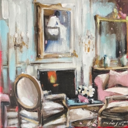 Hanna Ruminski - Parisian Apartment with Rose Sofa