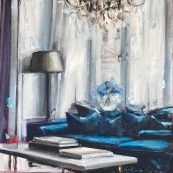 Hanna Ruminski - Parisian Apartment with Cyan Colour