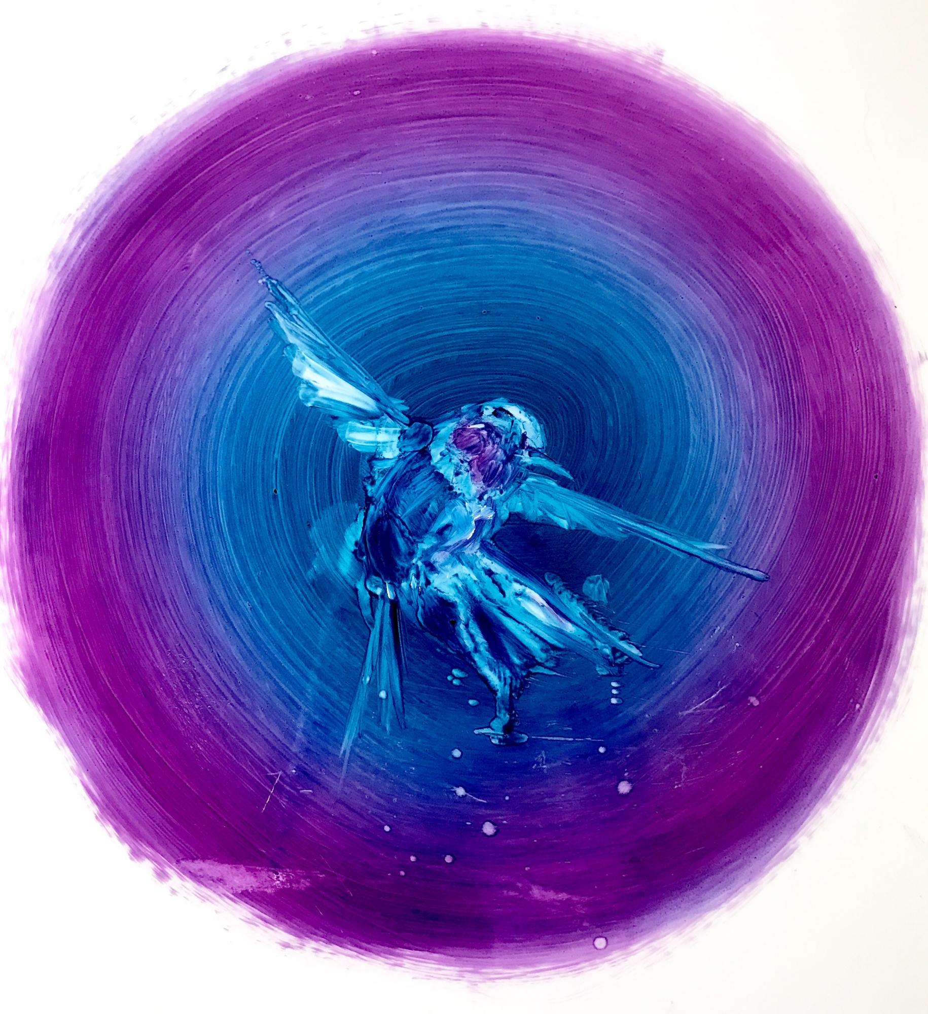 Humming Bird- Small Purple by Madeleine Lamont