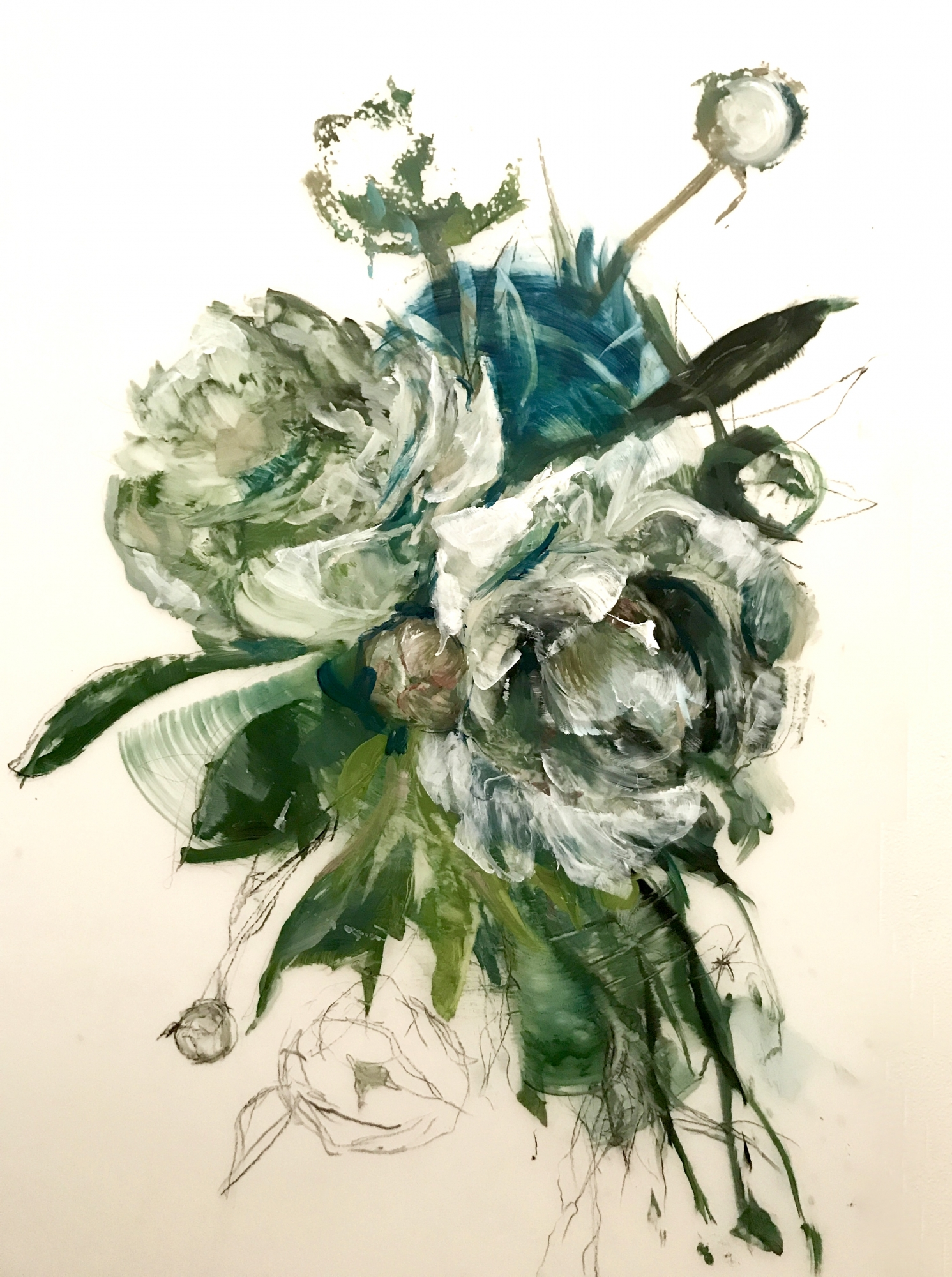 Teal Peony 2018- 3 by Madeleine Lamont