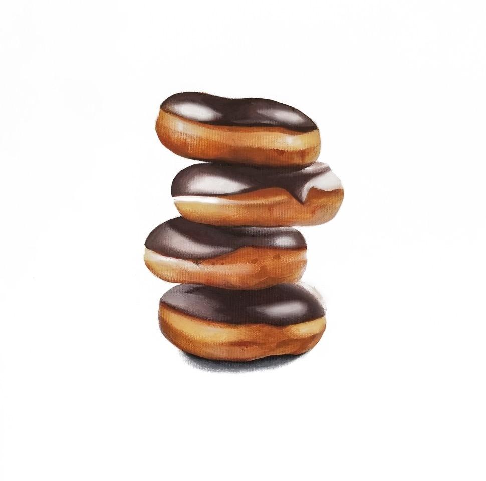 Tasting room: Chocolate glaze donut stack by Erin Rothstein