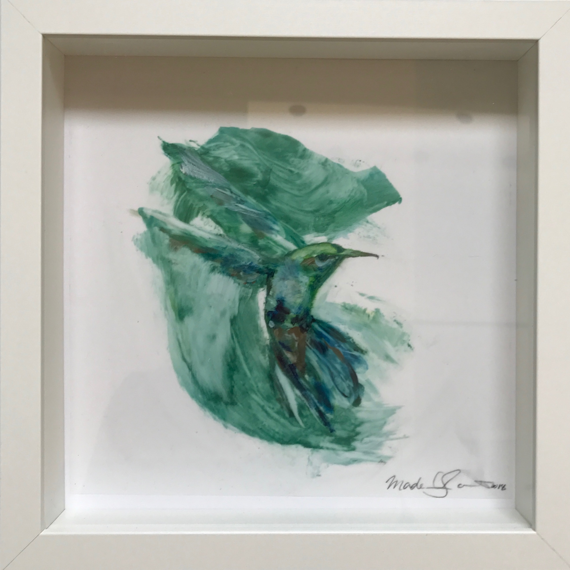 Hummingbird Small (framed) by Madeleine Lamont