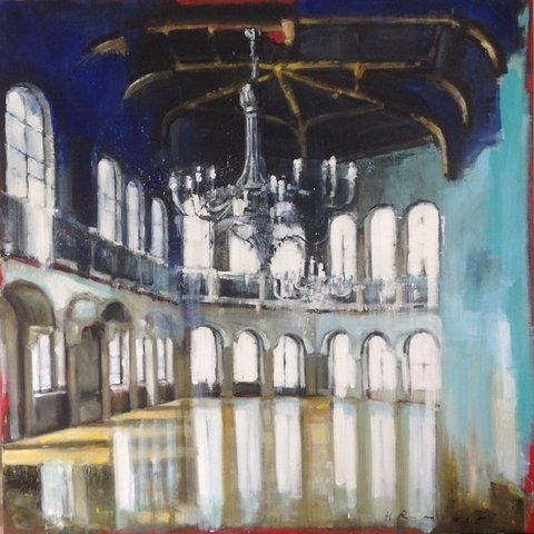 Hall in Ferstal Palace by Hanna Ruminski