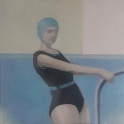 Greg Nordoff - Blue Bathing Cap