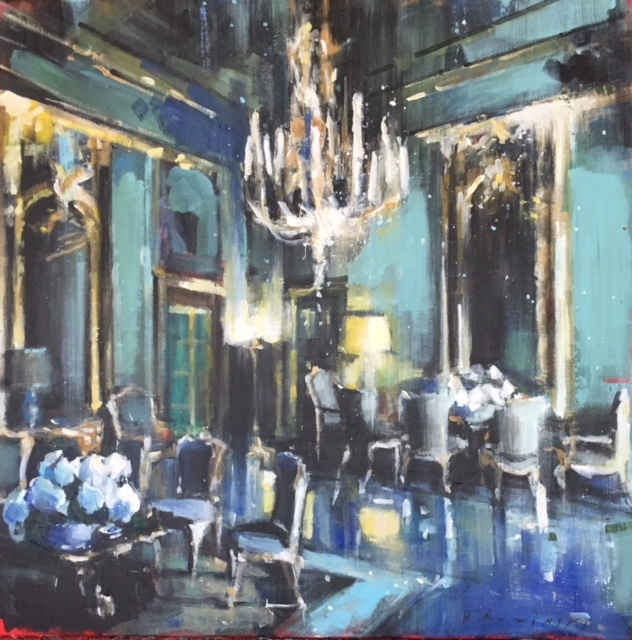 The Great Hall with Hydrangeas by Hanna Ruminski