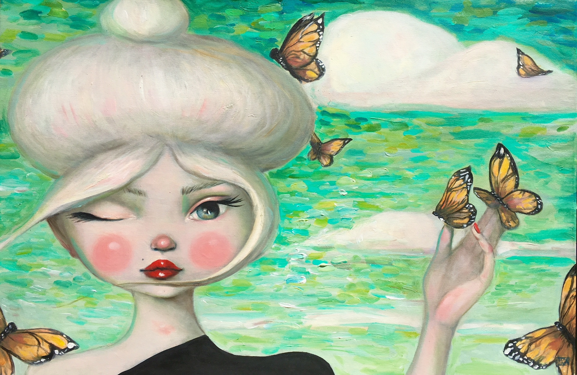 Teal Daydreams  by Kate Domina