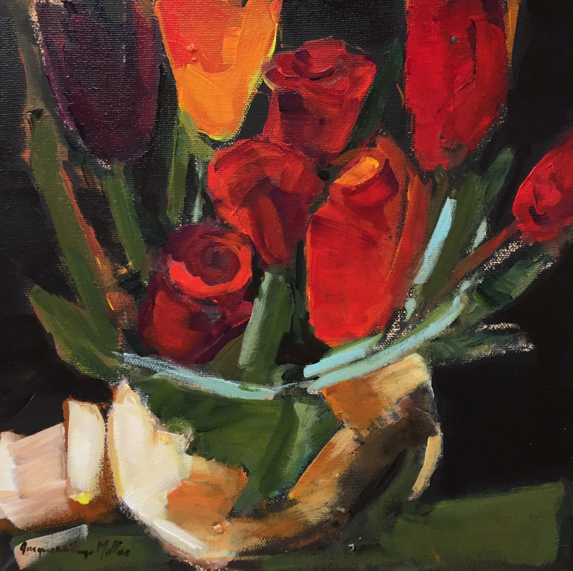 I Placed a Yellow Tulip  by Jackie  Miller