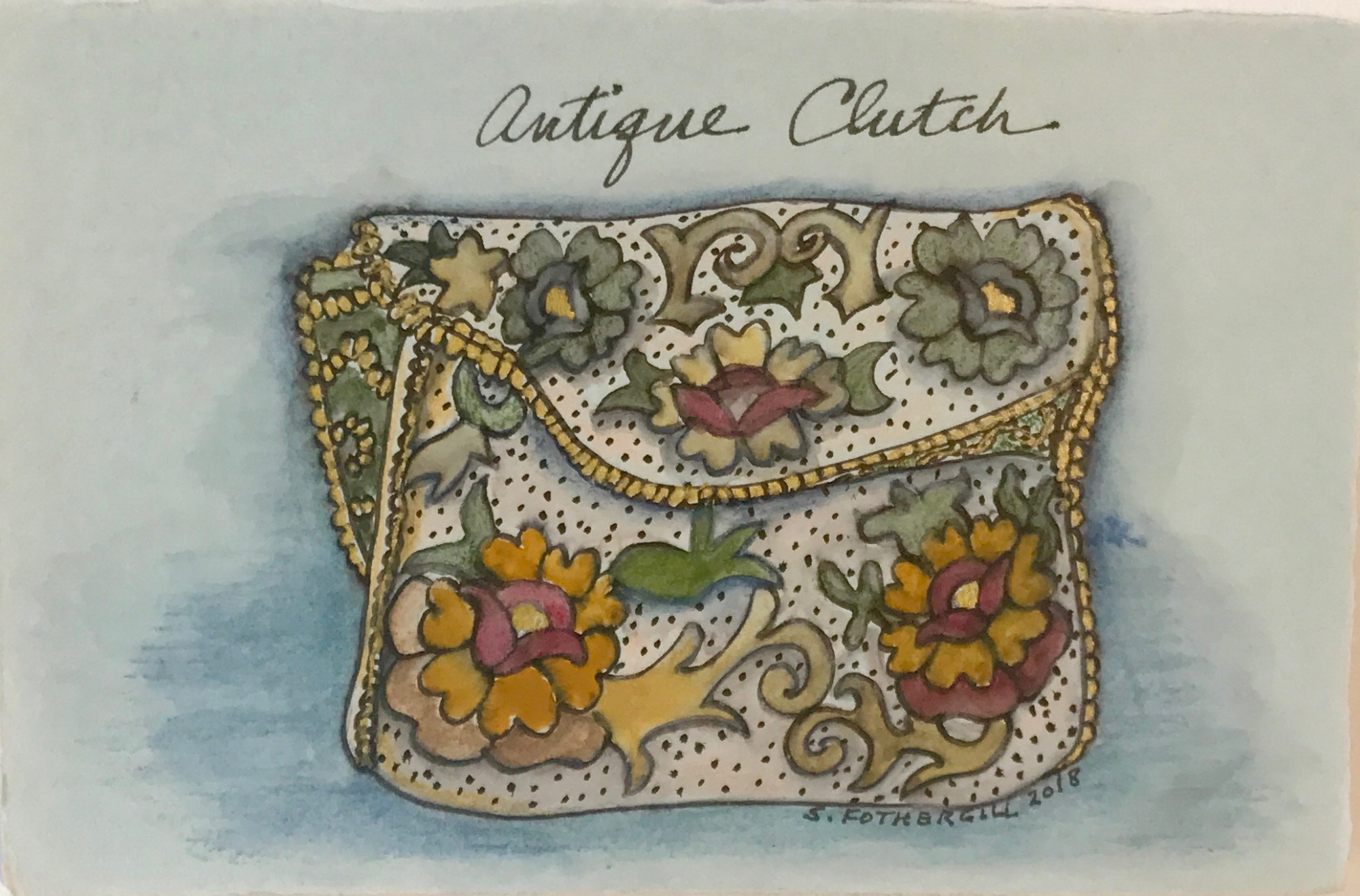 Antique Clutch by Susan Fothergill