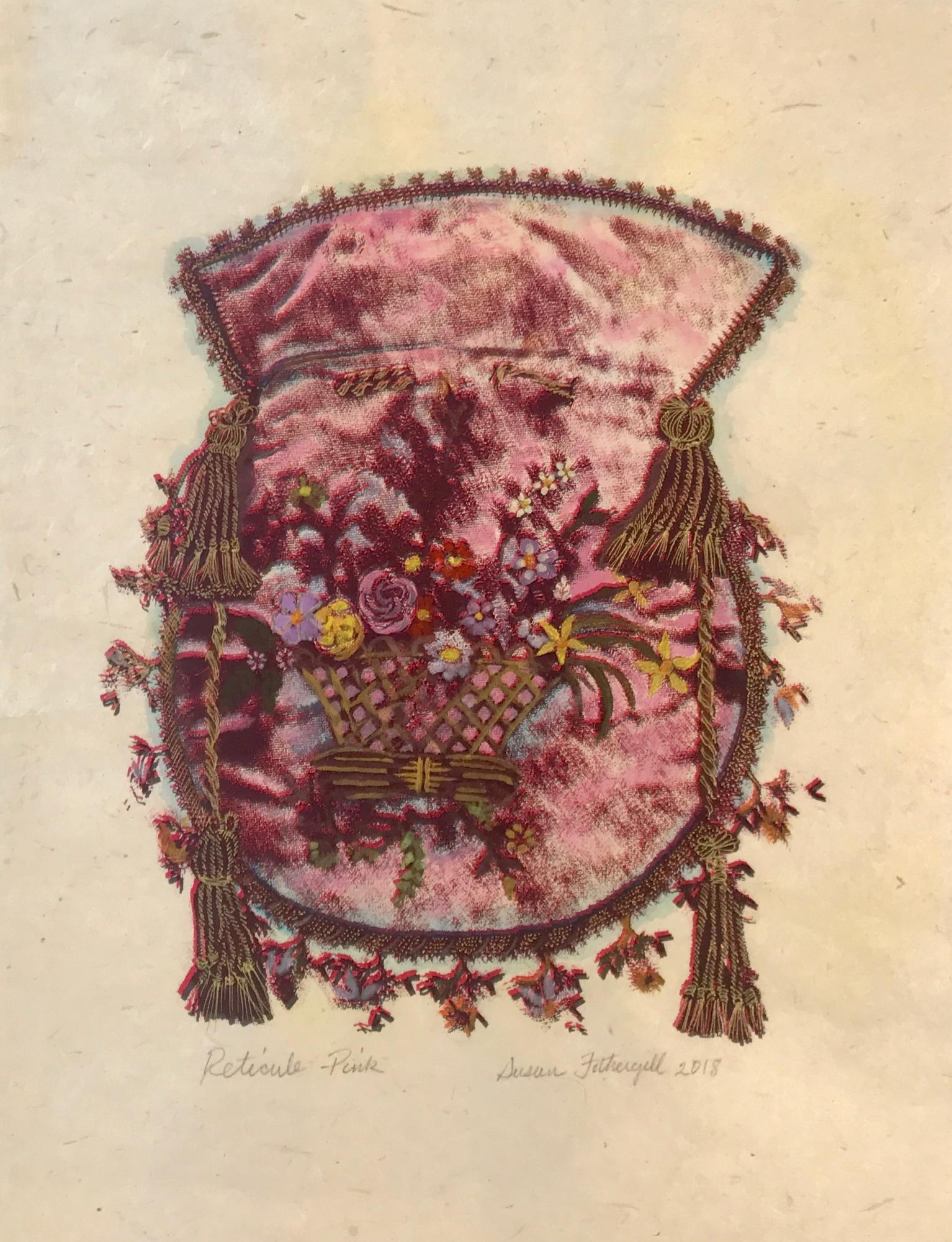 Reticule- Pink by Susan Fothergill