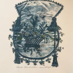 Susan Fothergill - Reticule- Blue and Silver