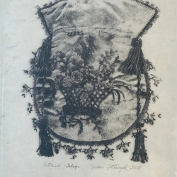 Susan Fothergill - Reticule- Silver Kurotani Cloud Paper