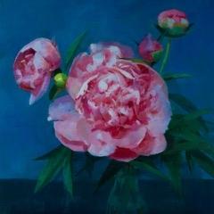 Peonies in Blue  by Caroline Ji