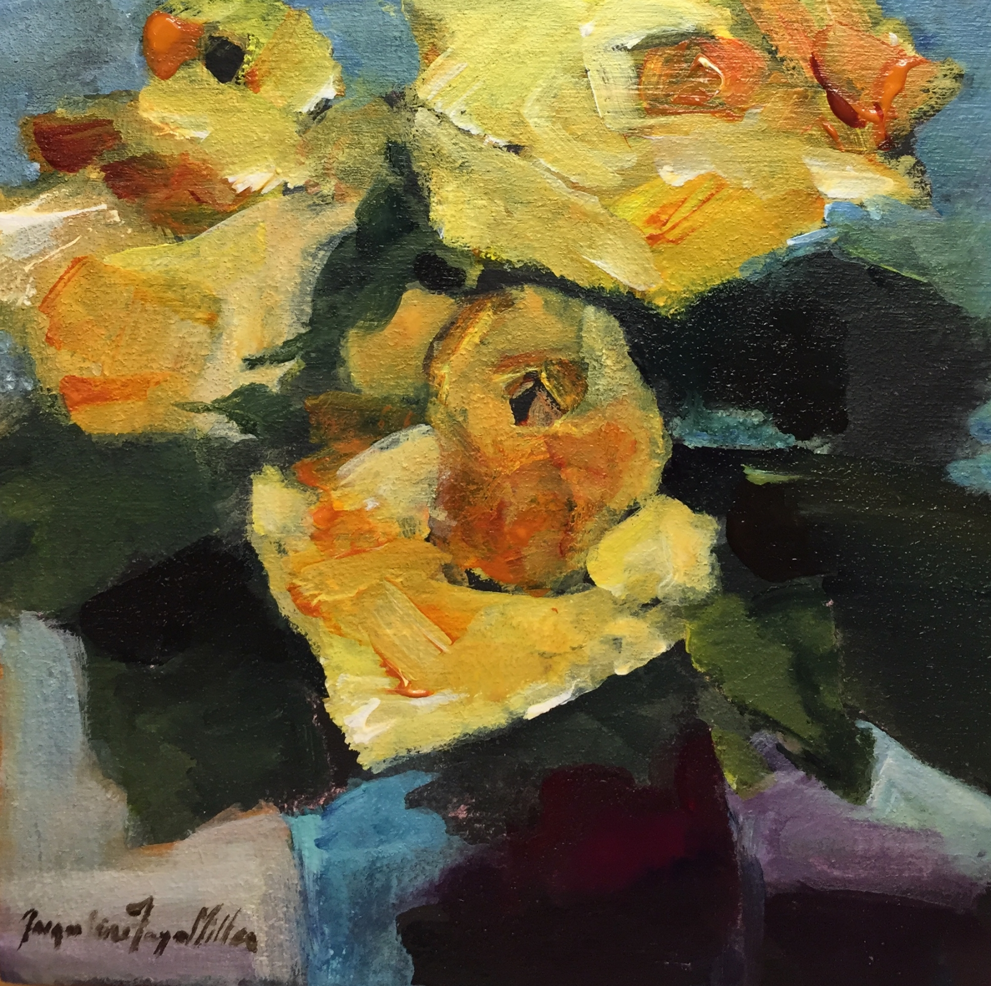 Old World Yellow Rose  by Jackie  Miller