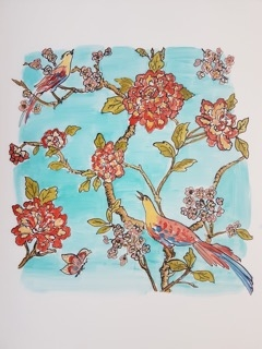 Birds and Flowers  by Jennifer Wardle