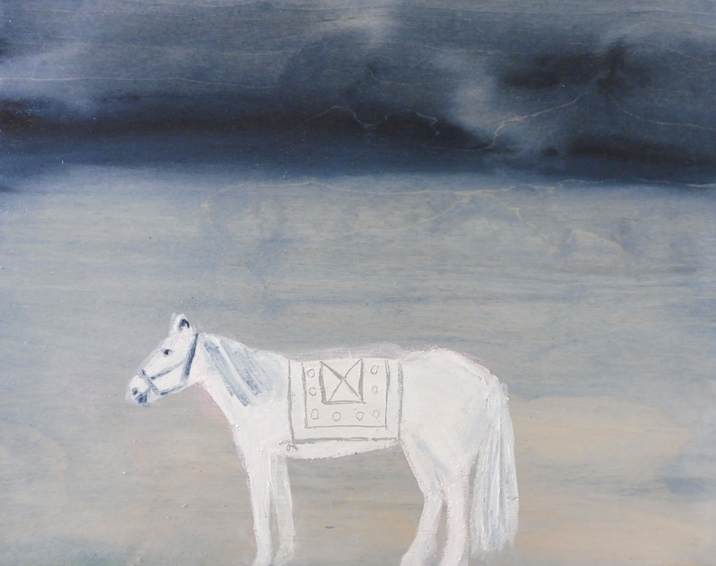 White horse  by Julie Davidson Smith