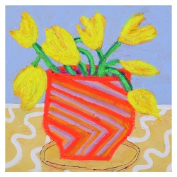 Julie Davidson Smith - Potted Yellow Tulips