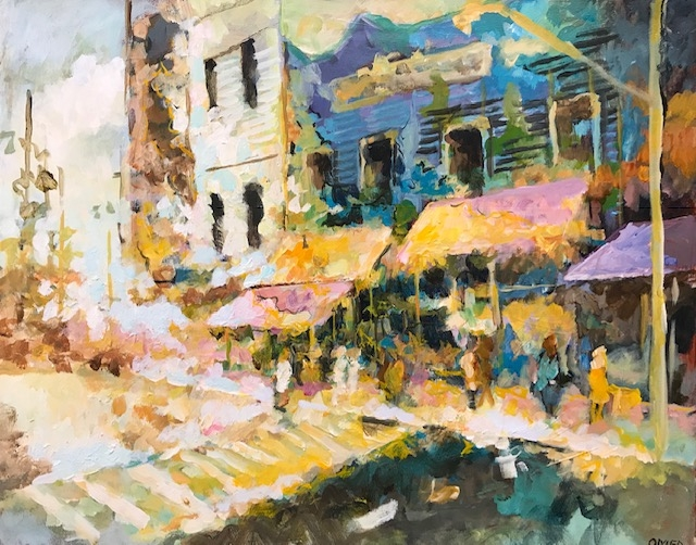 Street Shops  by Masood Omer