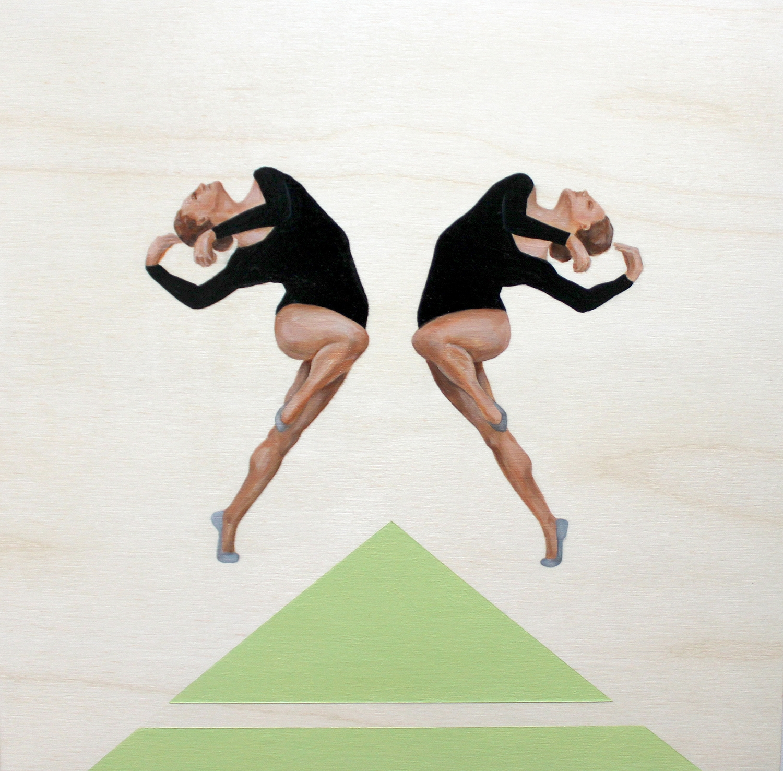 Two Dancers in Black II by Marina  Nazarova
