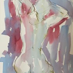 Mel Delija - Kneeling Nude