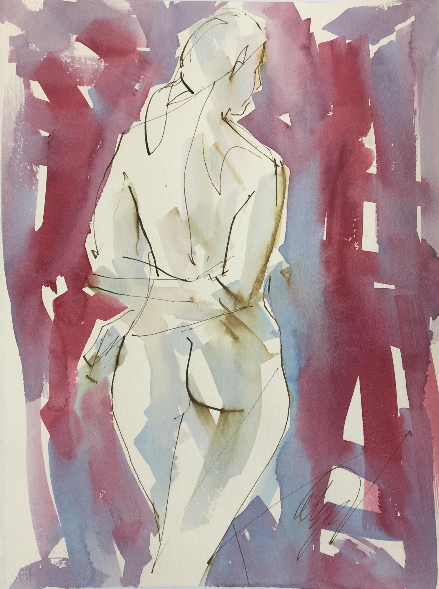 Hands Crossed Nude  by Mel Delija