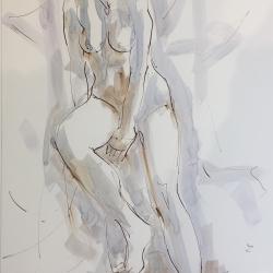 Mel Delija - Seated Nude V