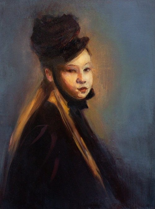 Young Girl in Bonnet by Win  Kuplowsky