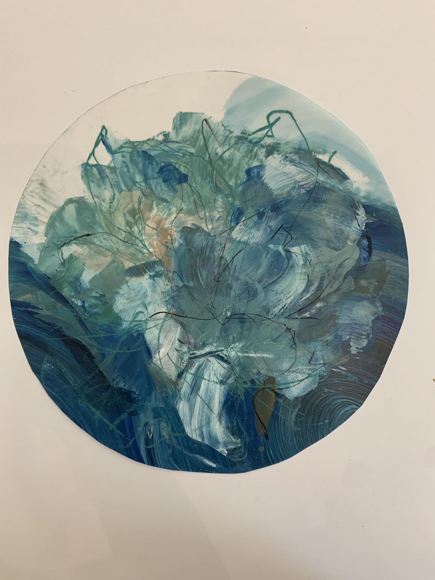 Circular Peony 6  by Madeleine Lamont