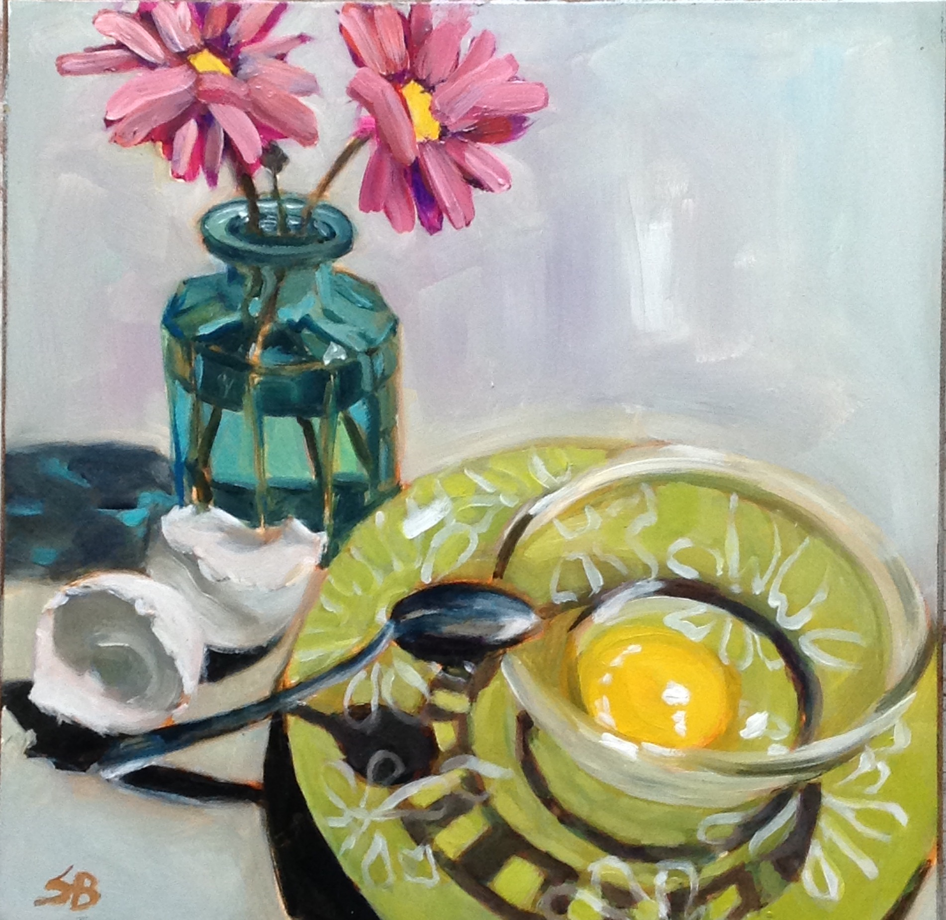 Green Plates 4 by Sonja  Brown
