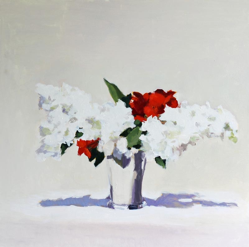 White Lilac, Silver Cup  by Hilda Oomen