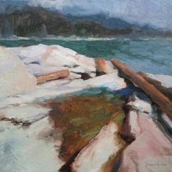 Maria  Josenhans - Logs on the Rocks