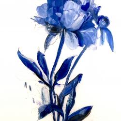 Madeleine Lamont - Deep Blue Peony 2