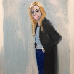 Frances  Hahn - Blue Cardigan