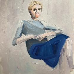 Frances  Hahn - Blue Skirt