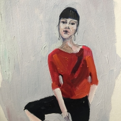 Frances  Hahn - Red Shirt