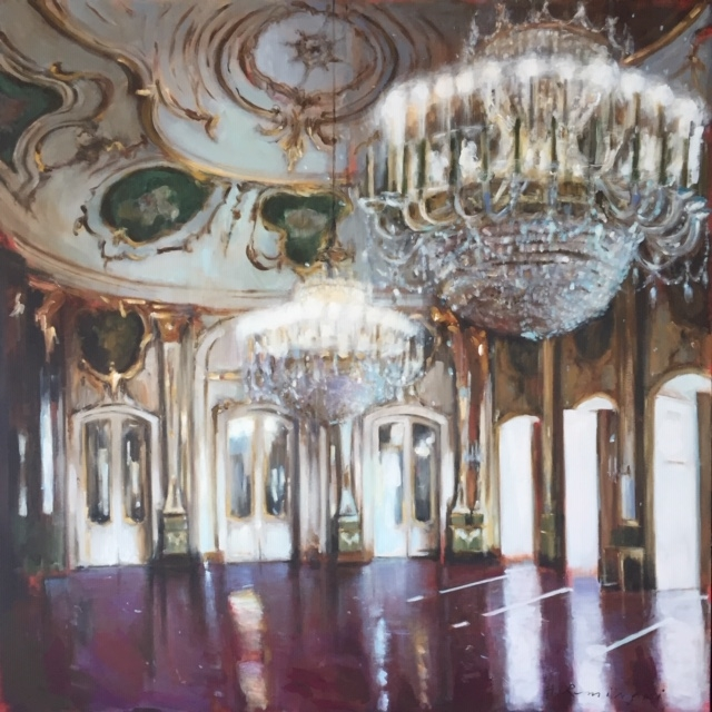 Ballroom in Queluz Palace  by Hanna Ruminski