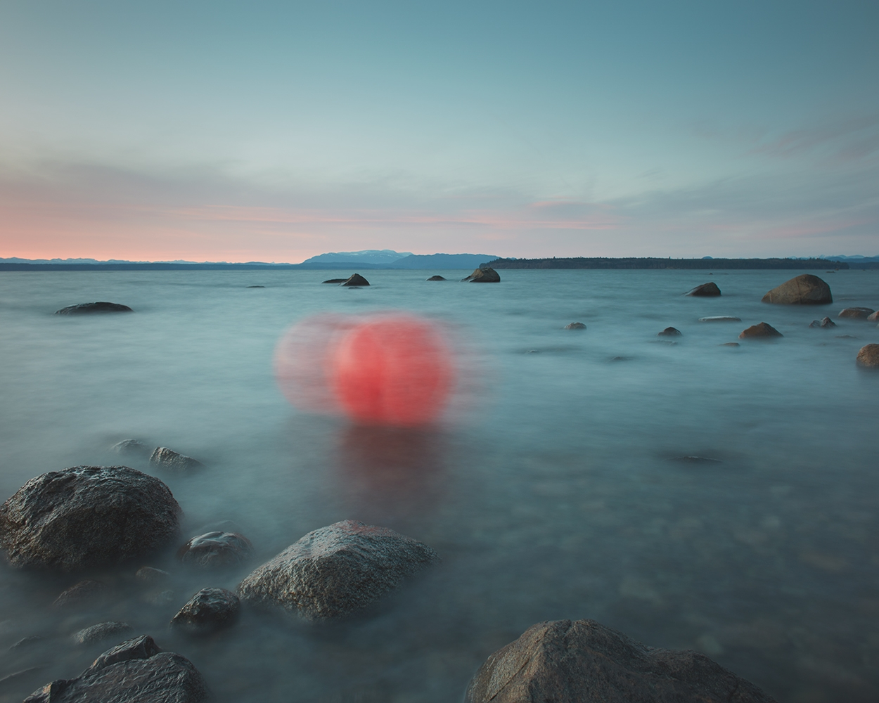 Unknown Entities - Unraveling Red in Veiled Blue, Fishing Buoy  by David Ellingsen