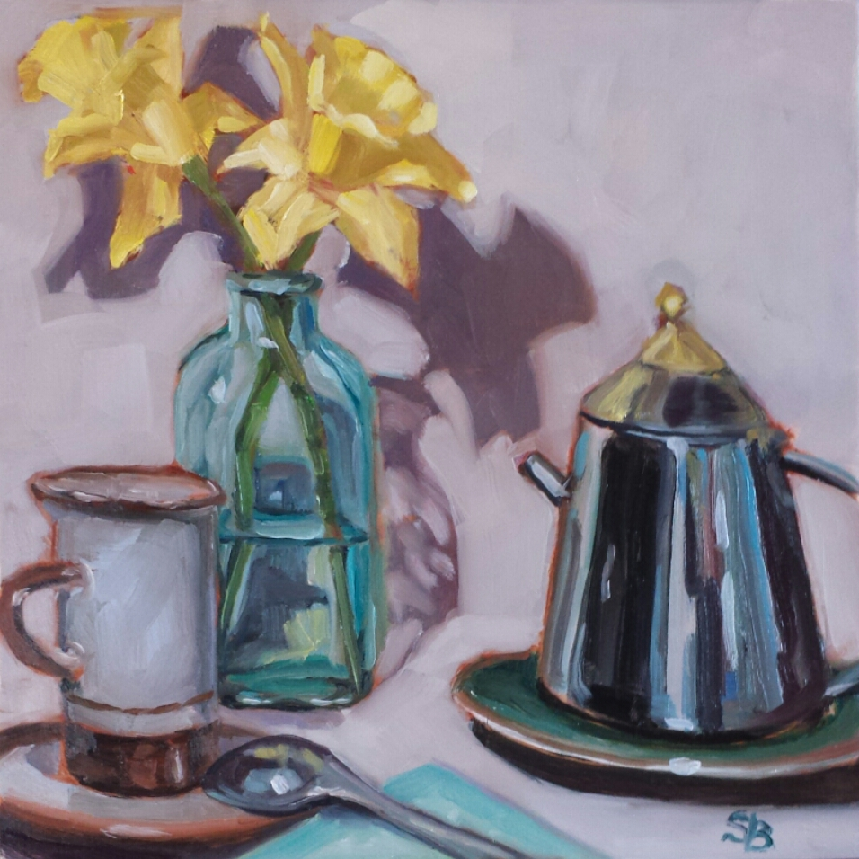 Daffodils 3  by Sonja  Brown