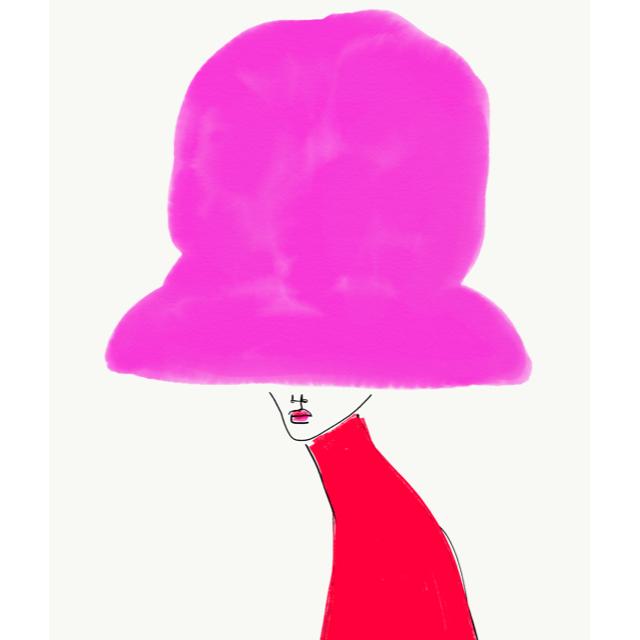 Chapeau Rose by Annie  Naranian