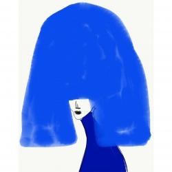 Annie  Naranian  - Cheveux Bleu