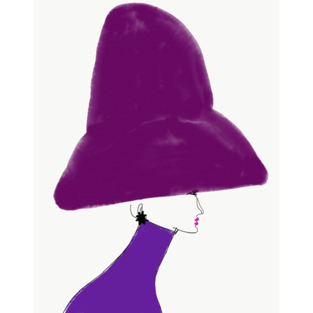 Chapeau Violet by Annie  Naranian
