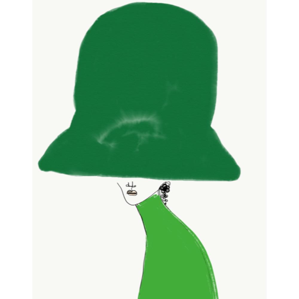Chapeau All Green by Annie  Naranian