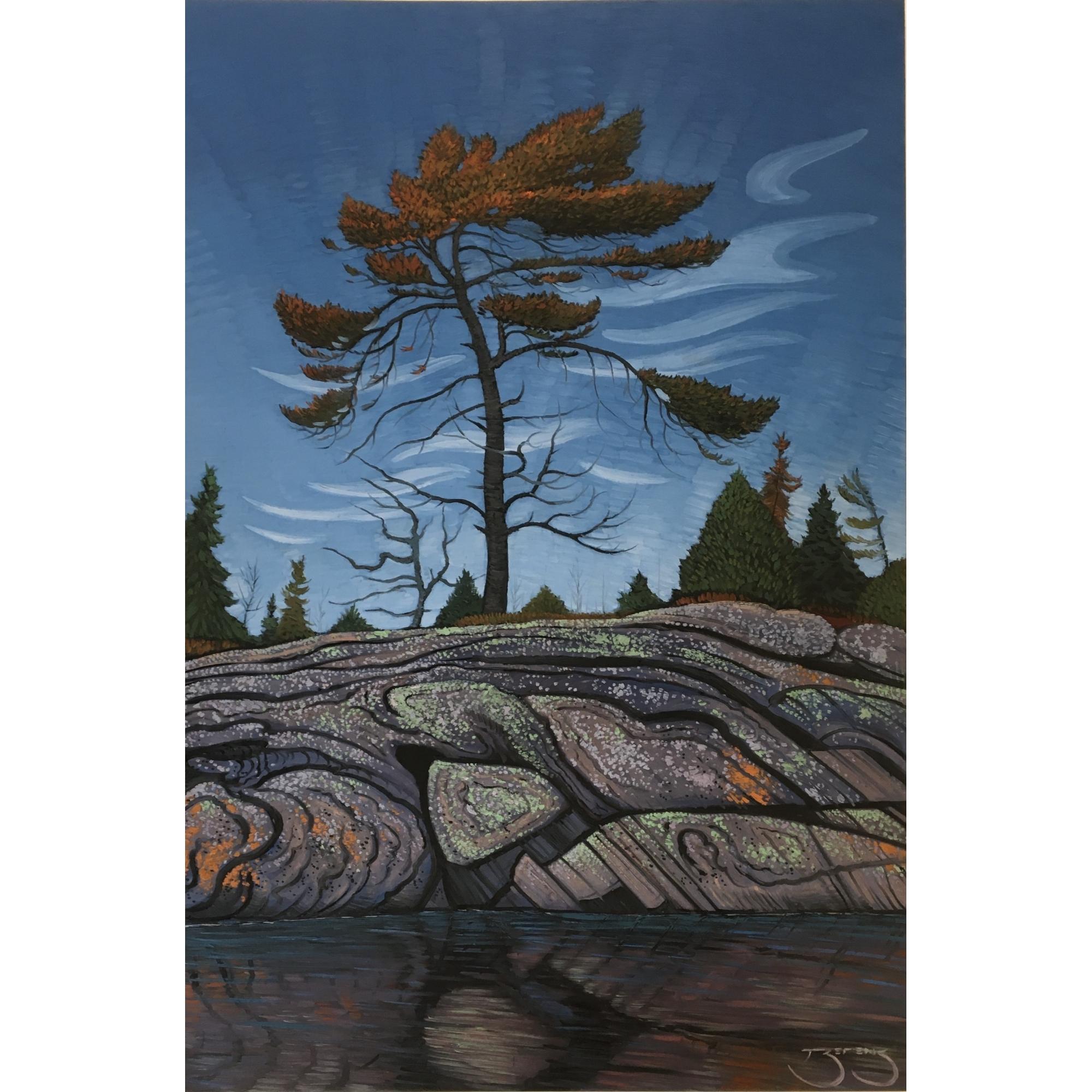 Lightening Pine, Split Rock by Mark Berens