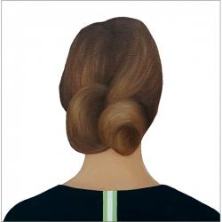 Marina  Nazarova - Lady in Dark Green with a Stripe