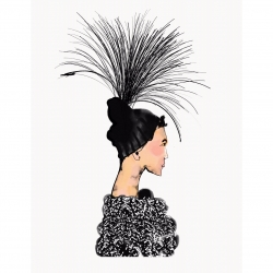 Annie  Naranian  - Marc Jacobs x Stephen Jones Millinery Headpiece 2
